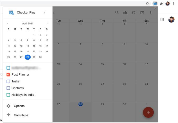use chrome extension to get google calendar on mac