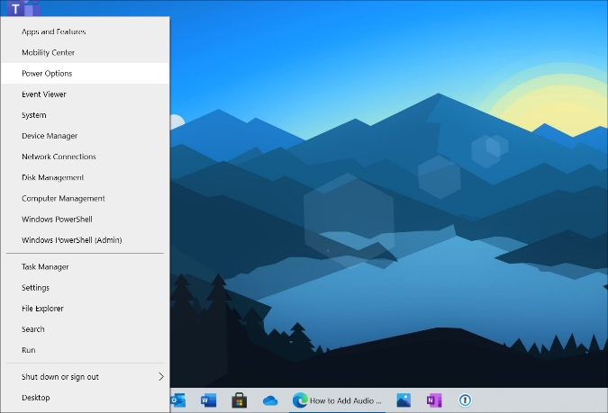 power options in windows 10
