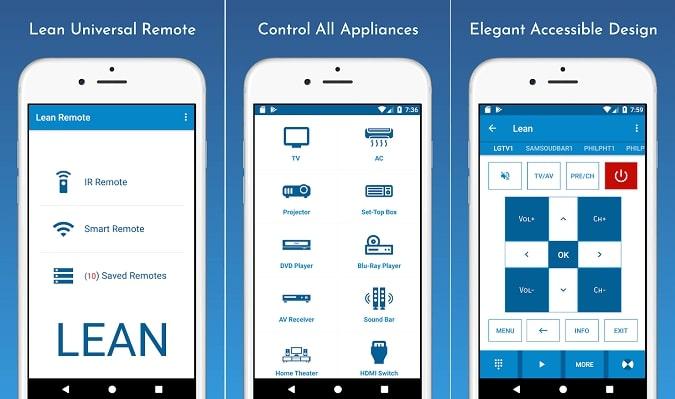 Best universal remote app Lean Remote