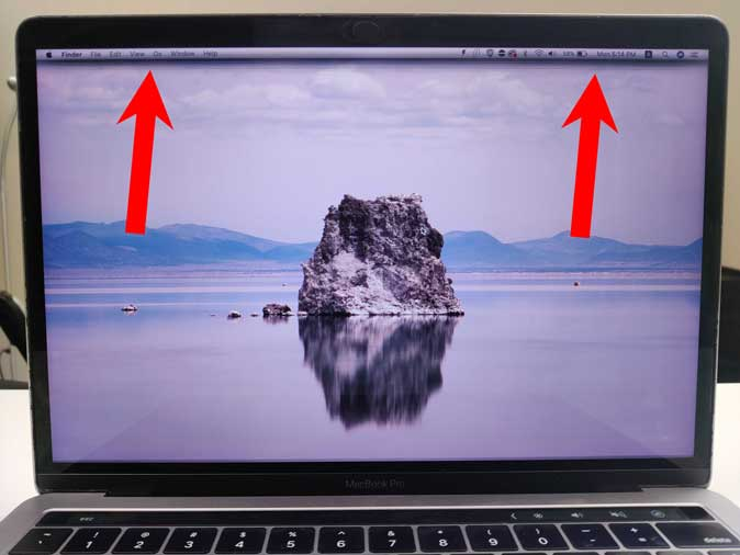 MacBook Pro with Horizontal Lines