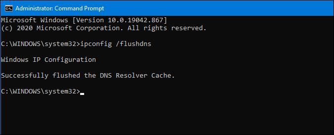 flush dns cache on windows 10