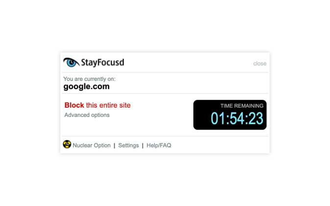 stayfocusd- best chrome extension for productivity