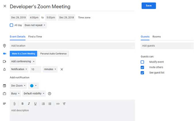 zoom scheduler extension to improve productivity