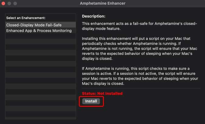 install amphetamine enhancer script