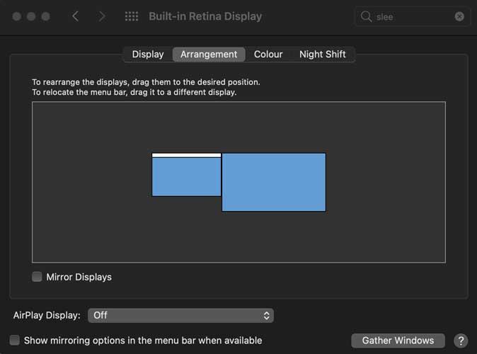 Macbook external display arrangement