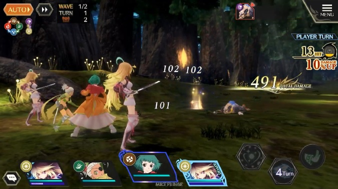 tales of crestoria gameplay on mobile