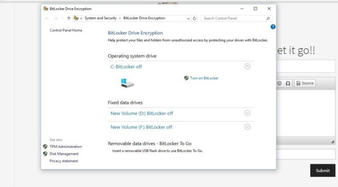 Bitlocker encrytion 2