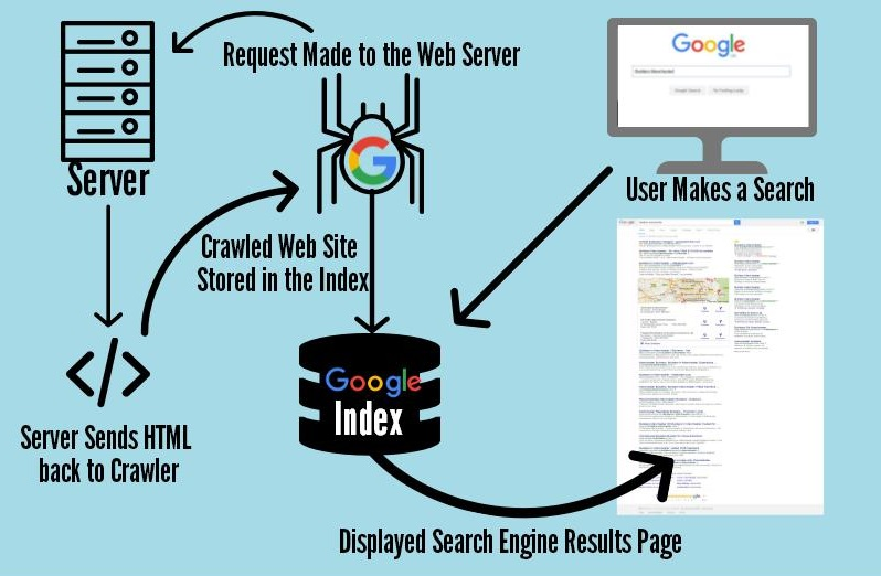 How Google Search Engine Works Infographic