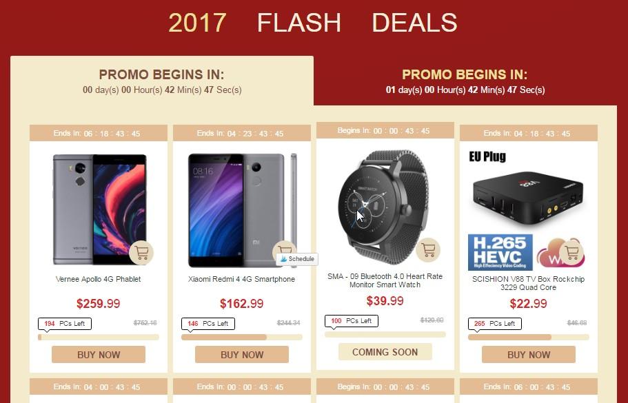 gearbest flash sales