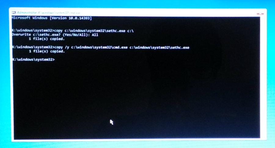 reset windows password 3