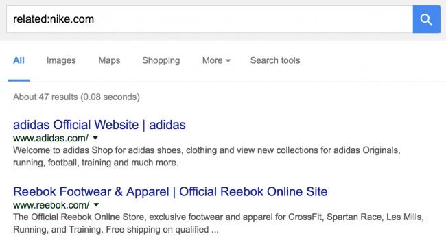 Finding similar websites