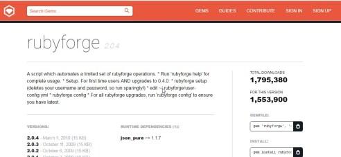 RubyForge