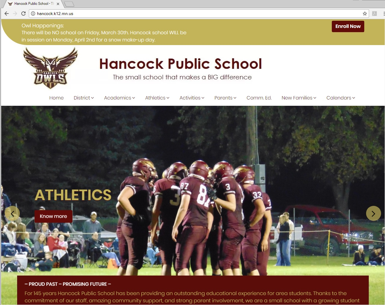 Hancock ISD - Web Design