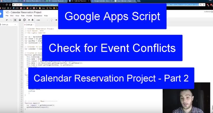 Google Apps Script Calendar Reservation Project Part 2