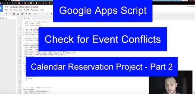 Google Apps Script - Calendar Reservations Part 2