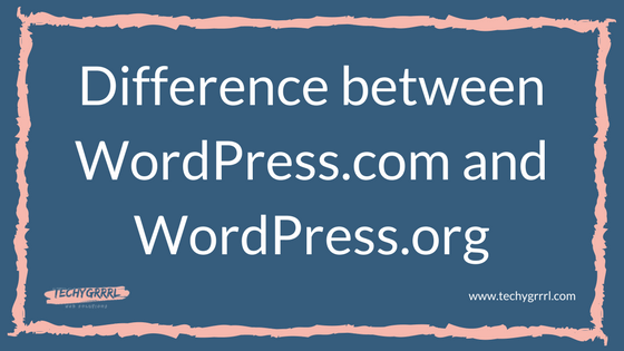 difference between wordpres.com and WordPress.org