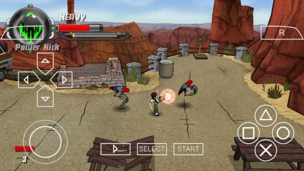 Ben 10: Protector of Earth one of the best PPSSPP Games download on android smartphones