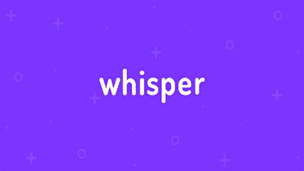 Whisper is an amazing app to interact with people all around the world