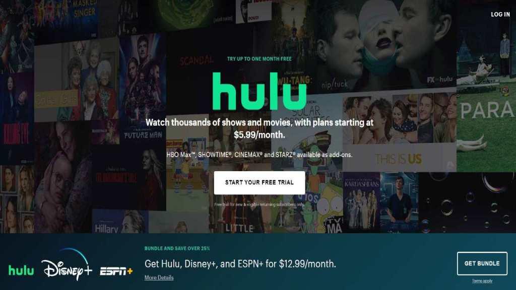 hulu website live streaming