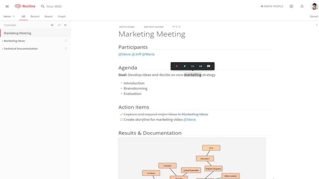 Nuclino is one of the best Google Docs alternatives or websites like Google Docs