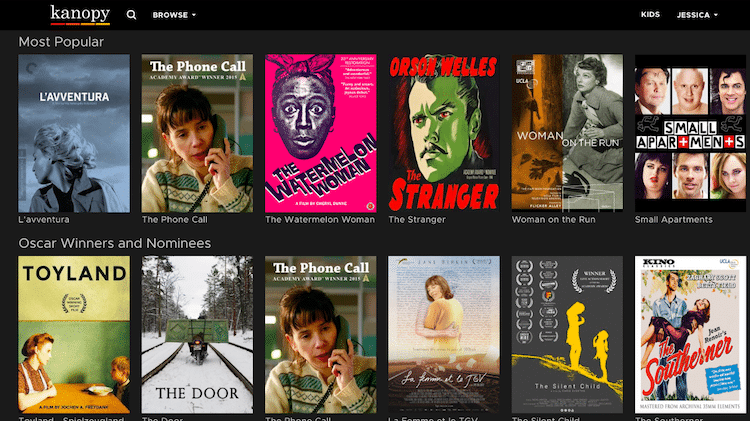 Kanopy is one of the best free movies apps for android and iOS users in 2021