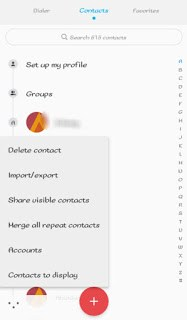 backup contacts to google