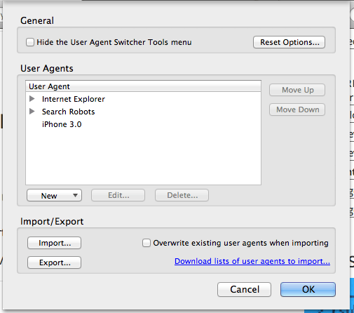 import-useragents-techzei
