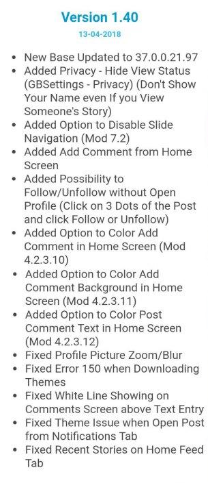 GB Instagram Latest Version v1 40 APK Free Download – TechZip