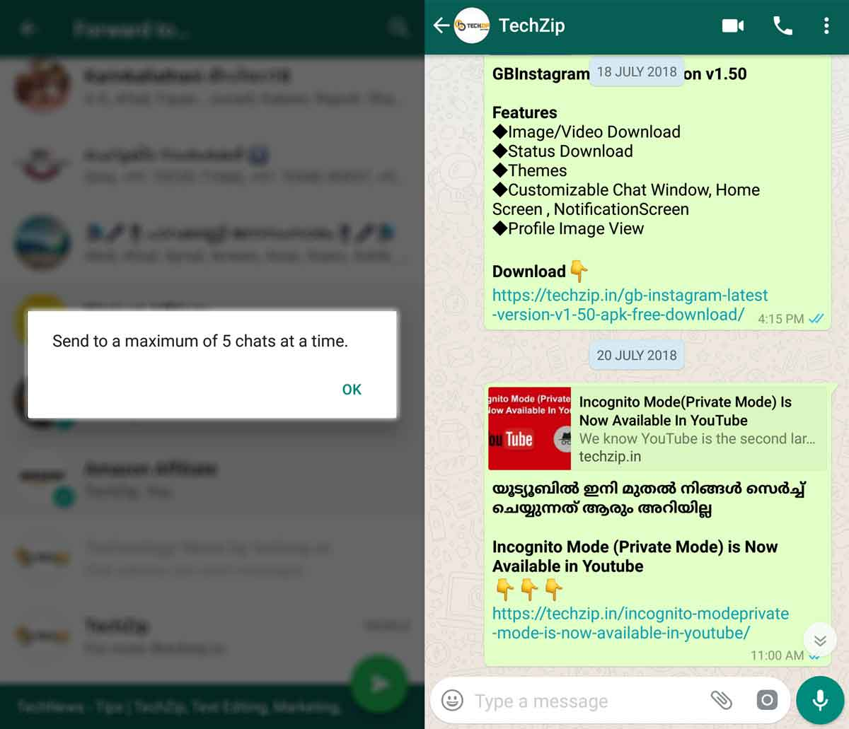 WhatsApp Forward Limit Feature Live In India – TechZip