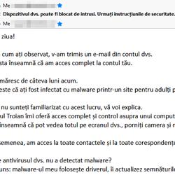 Dispozitivul dvs. poate fi blocat de intrusi. Urmați instrucțiunile de securitate.