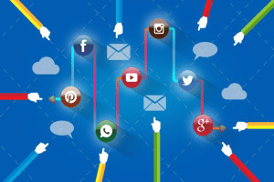 Social media connected as cloud