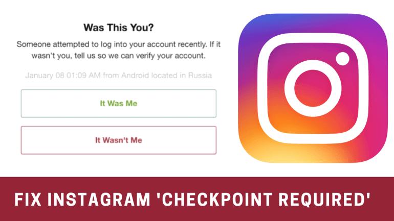 fix instagram checkpoint required error