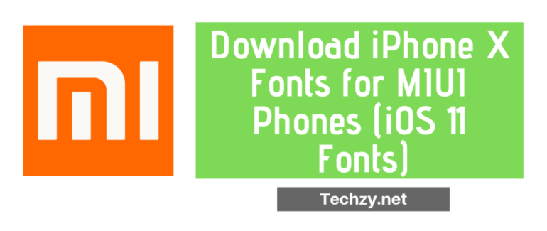 iphone fonts for MIUI