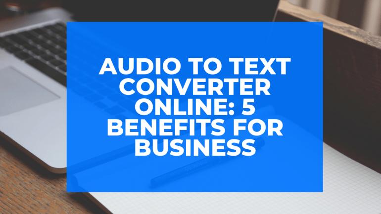 audio to text converter online