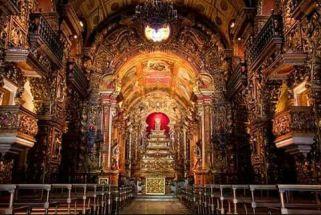 Interior do Mosteiro de São Bento na cidade do Rio de Janeiro.
