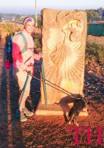 última etapa del Camino de Santiago Francés con perro