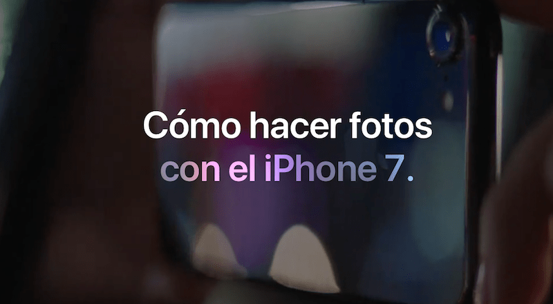 Apple nos enseña a usar la cámara del iPhone 7