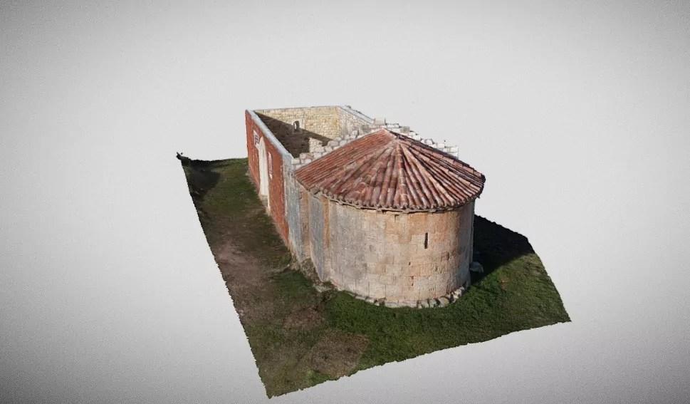 Fotogrametría de la Ermita de Hontoria de la Cantera