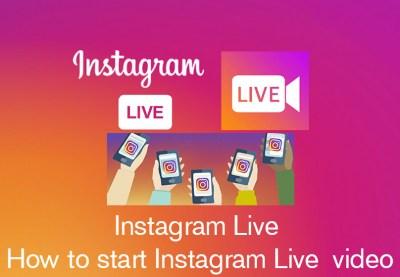 Instagram Live : How do I start a live video on Instagram