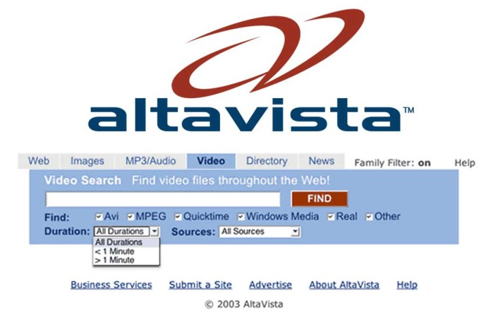 AltaVista - Web Search Engines