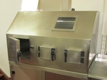 Celda de manipulacion con extractor de gases