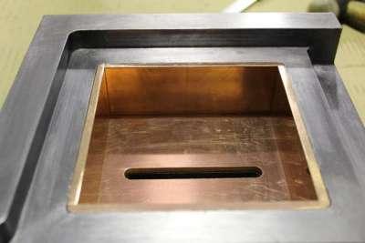 Colimador en plomo barnizado e interior en cobre