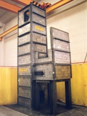 Montaje ladrillos de plomo de 80mm para desmantelamiento central