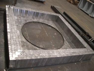 Premontaje de ladrillos de plomo para central nuclear
