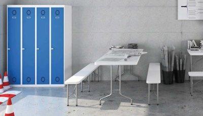 Taquillas-bancos-mesas-plegables  - Mobiliario de Oficina