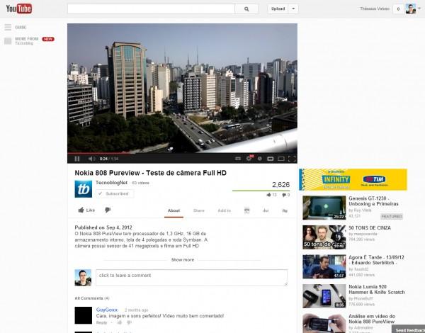Belo novo YouTube