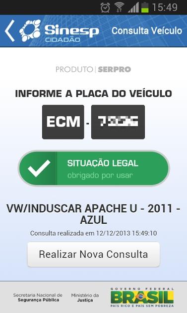Sinesp Cidadão - Android