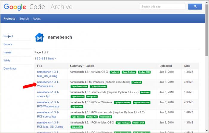 Download - Namebench