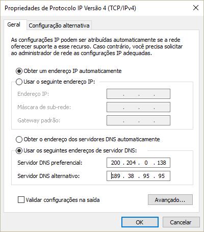 Configurando o DNS no Windows