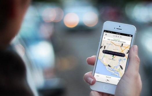 Uber - smartphone